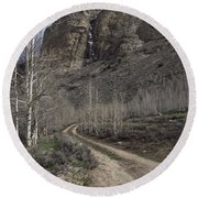 Bend In The Road - Waterfalls Round Beach Towel