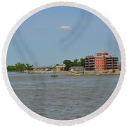 Bend Of The Mississippi River Round Beach Towel
