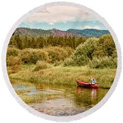 Bend/sunriver Thousand Trails Round Beach Towel