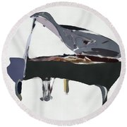 Bendy Piano Round Beach Towel by David Ridley