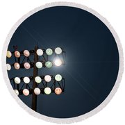 Beneath Friday Night Lights Round Beach Towel by Trish Mistric
