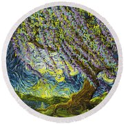 Beneath The Willow Round Beach Towel