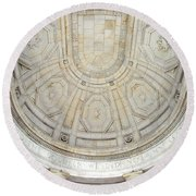 Beneath This Marble Ceiling Round Beach Towel