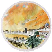 Benidorm Old Town Round Beach Towel