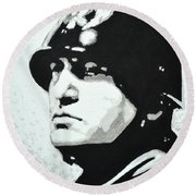Benito Mussolini Round Beach Towel