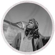 Benjamin Davis - Ww2 Tuskegee Airmen Round Beach Towel