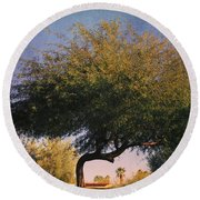 Bent But Not Broken Round Beach Towel by Laurie Search