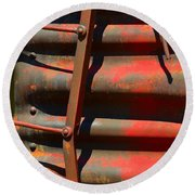 Bent Out Of Shape Round Beach Towel
