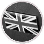 Bentley Badge In Black Round Beach Towel