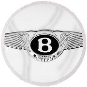 Bentley Emblem -0082c Round Beach Towel