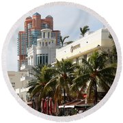 Bentley Hotel Miami Round Beach Towel
