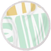 Bento 1- Abstract Shape Painting Round Beach Towel