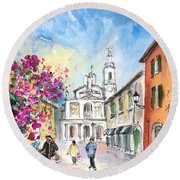 Bergamo Lower Town 01 Round Beach Towel