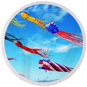 Berkeley Kite Festival 1 Round Beach Towel