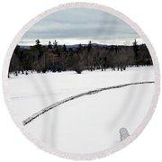 Berkshires Winter 2 - Massachusetts Round Beach Towel