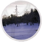 Berkshires Winter 5 - Massachusetts Round Beach Towel
