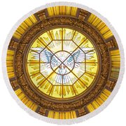 Berlin Cathedral Ceiling Round Beach Towel