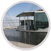 Berlin Government Building - Germany Round Beach Towel