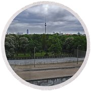 Berlin Wall No Man's Land Round Beach Towel