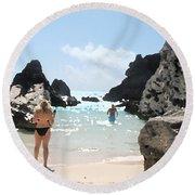 Bermuda Bikini Round Beach Towel