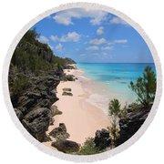 Bermuda Cliffside Round Beach Towel
