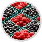 Berry Berry Nice Round Beach Towel