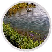 Berry Hill Pond In Gros Morne Np-nl Round Beach Towel