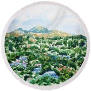 Beshtau Round Beach Towel