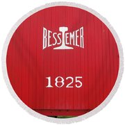 Bessemer Train Round Beach Towel
