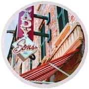Best Dishes Savannah Round Beach Towel