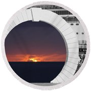 Best Wishes Round Beach Towel by Luke Moore