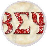 Beta Sigma Psi - Parchment Round Beach Towel