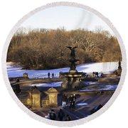 Bethesda Fountain 2013 - Central Park - Nyc Round Beach Towel