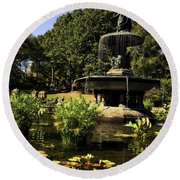 Bethesda Fountain - Central Park 2 Round Beach Towel