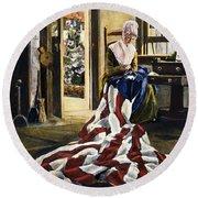 Betsy Ross (1752-1836) Round Beach Towel