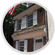 Betsy Ross House Round Beach Towel