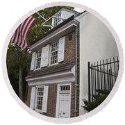 Betsy Ross House Philadelphia Pennsylvania Round Beach Towel