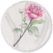 Betsy's Rose Round Beach Towel