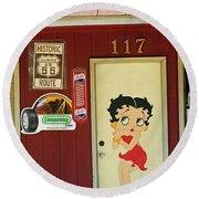 Betty Boop 2 Round Beach Towel