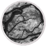 Between Black And White-07 Round Beach Towel