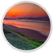 Between Day And Night Round Beach Towel