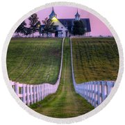Between The Fences Round Beach Towel