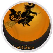 Betwitched Round Beach Towel
