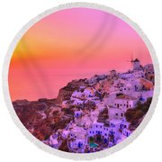 Bewitched Sunset Round Beach Towel