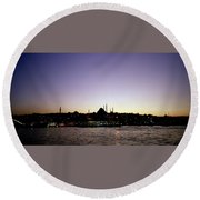 Bewitching Istanbul Round Beach Towel
