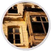Beyoglu Old House 02 Round Beach Towel