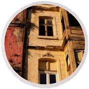 Beyoglu Old Houses 01 Round Beach Towel