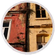 Beyoglu Old Houses 02 Round Beach Towel