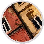 Beyoglu Old Houses 03 Round Beach Towel