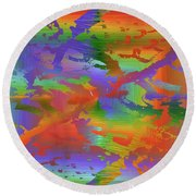 Beyond The Albatross Rainbow Round Beach Towel